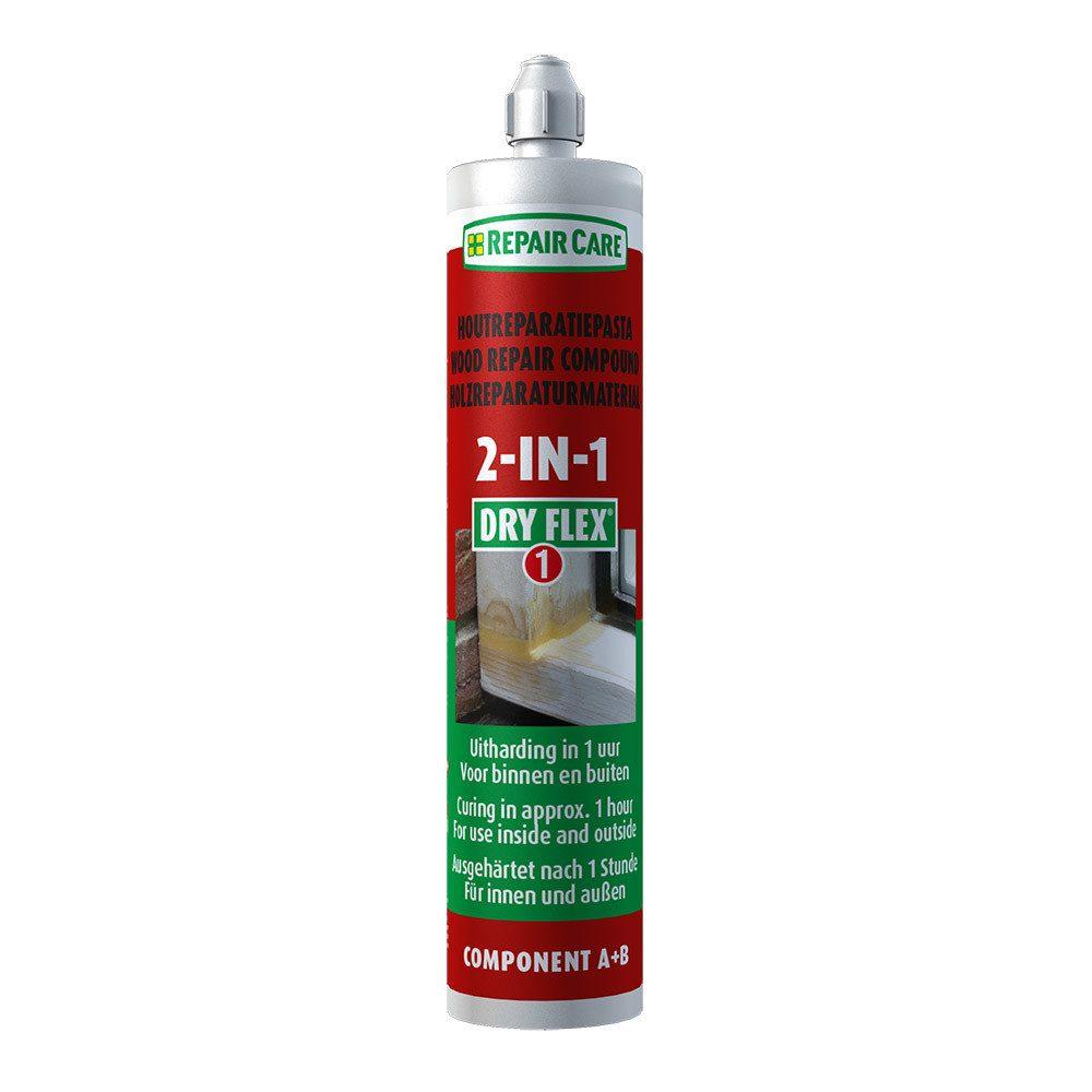 DRY FLEX® 1 2 in 1- Reparaturmasse für sehr schnelle Holzreparaturen und Laminieren