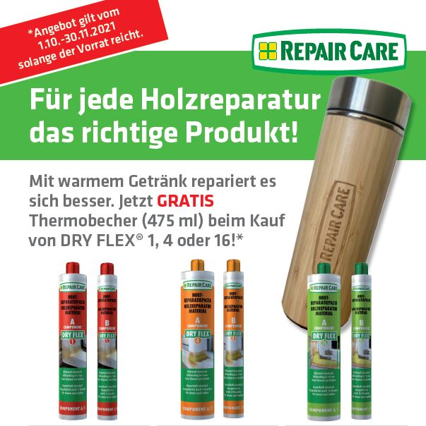 Herbstaktion Thermobecher Repair Care