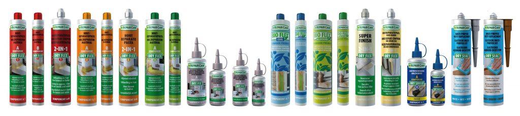 Dry Flex, Dry Fix, Bio Flex und mehr: Repair Care - Produkte für die professionelle Holzreparatur