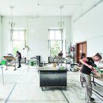 Sanierungsarbeiten im denkmalgeschützten Schloss Darmstadt